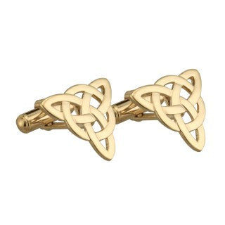 Trinity Knot Cufflinks 18ct Gold Plated S6429