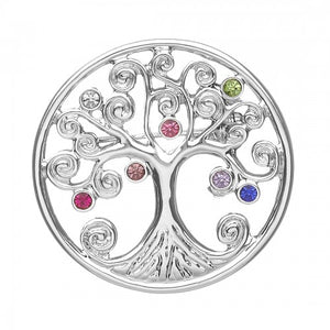 Brooch Tree of Life Multi coloured Stones SPB06