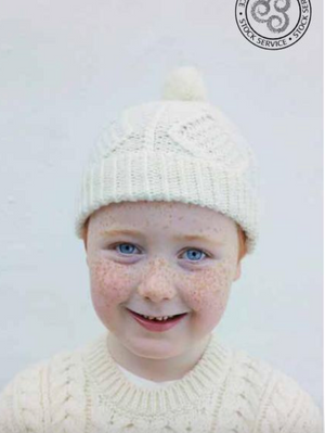 Child's Aran Merino Wool Ski Hat Beanie