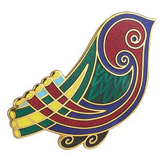 Brooch Celtic Bird Enamel 18ct Gold Plated TG1018