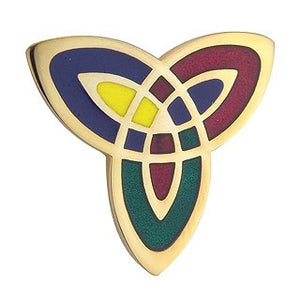 Trinity Knot Brooch Enamel 18ct Gold Plated TG1052CL