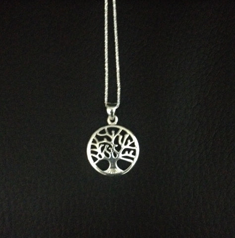 Tree of Life Pendant Sterling Silver with Chain
