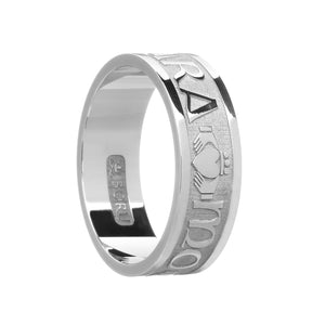 Sterling Silver Mens Mo Anam Cara Ring
