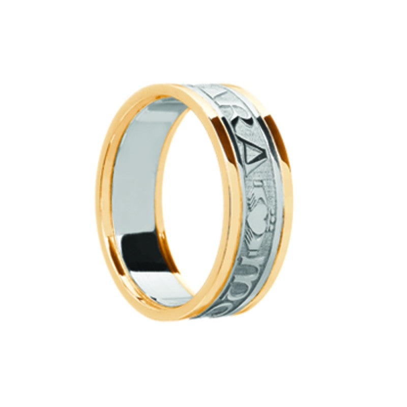 Mens Mo Anam Cara Claddagh Wedding Band