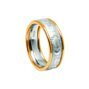 Mens Claddagh Wedding Band