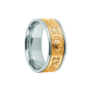 Celtic Warrior Shield Wedding Band