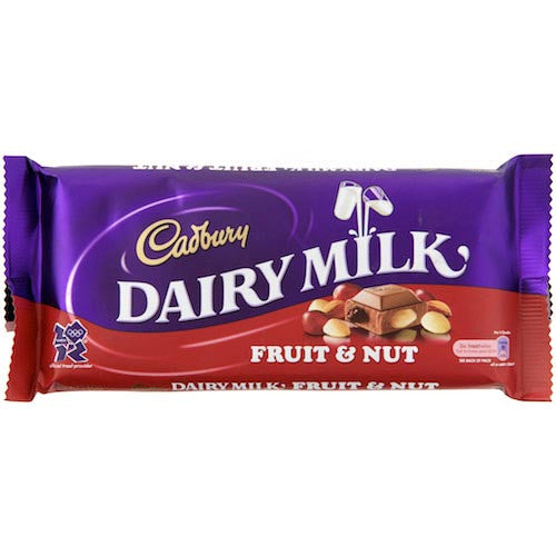 Cadbury Dairy Milk Fruit & Nut 45g