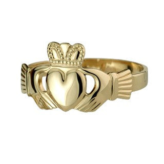 Claddagh Ring Gents Heavy 9ct Yellow Gold