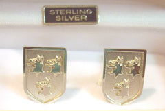 Sterling Silver family Crested Cufflinks