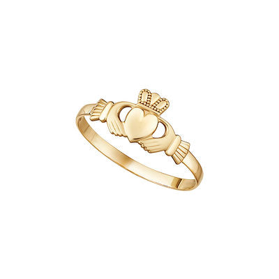 10ct Yellow Gold Mini Claddagh ring S2987.