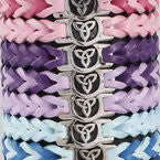 Wristband Leather Trinity Knot