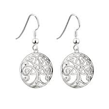 Tree of Life Trinity Knot Drop Earring