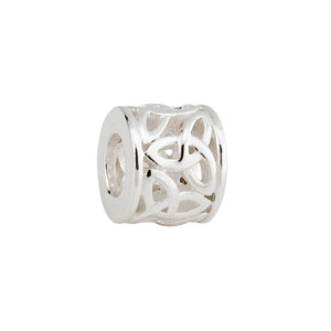 Charm Bead Trinity Knot Sterling Silver.