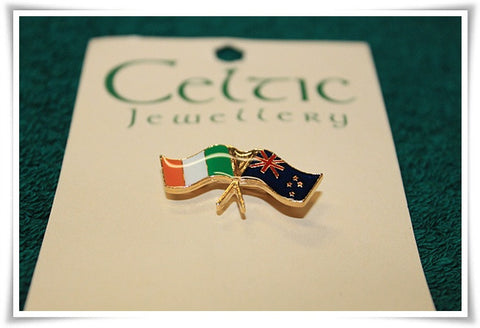 Ireland/NewZealand Flag Stick Pin