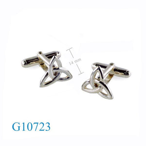 Trinity Knot Sterling Silver cufflinks.