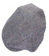 Tweed Cap - Donegal Navy Blue Herringbone