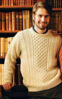 Aran Jumper Natural Merino Wool
