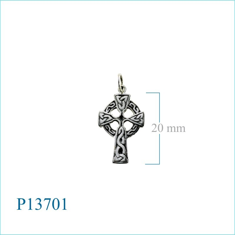 Celtic Cross pendant Sterling Silver small.