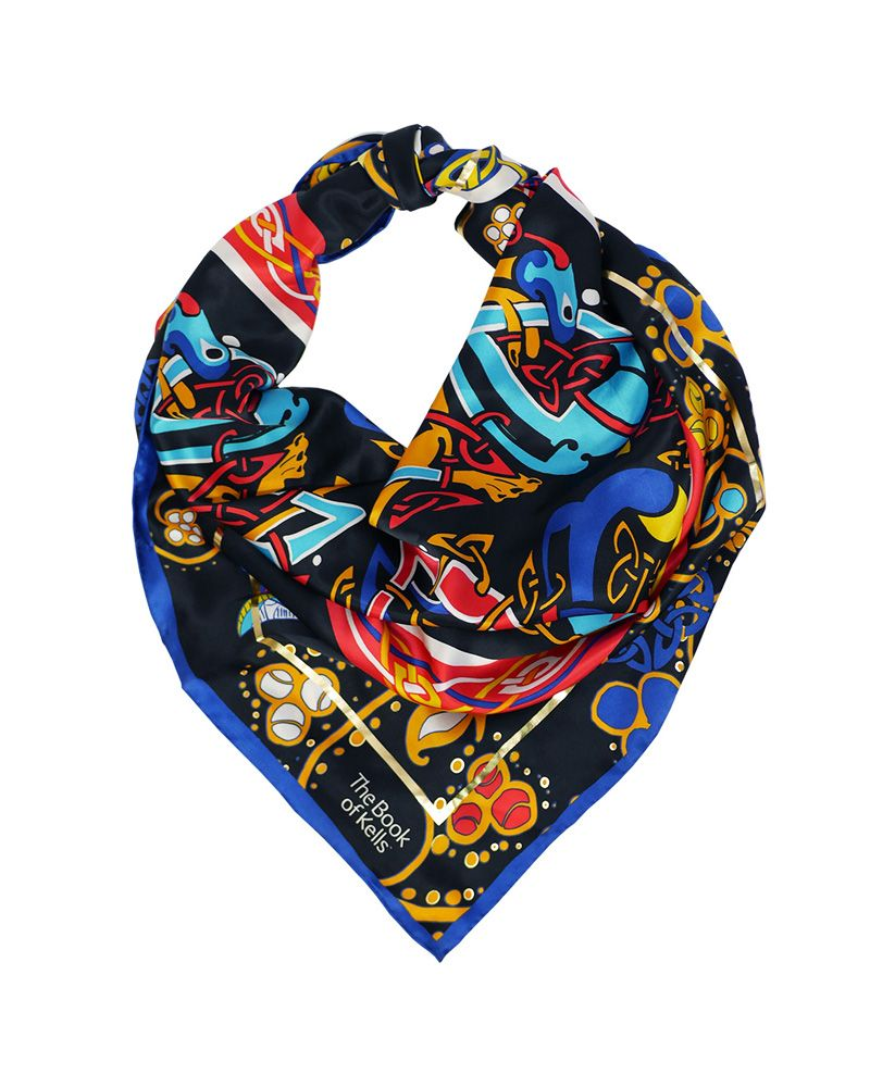 Book of Kells Square Silk Scarf Patrick Francis Collection.