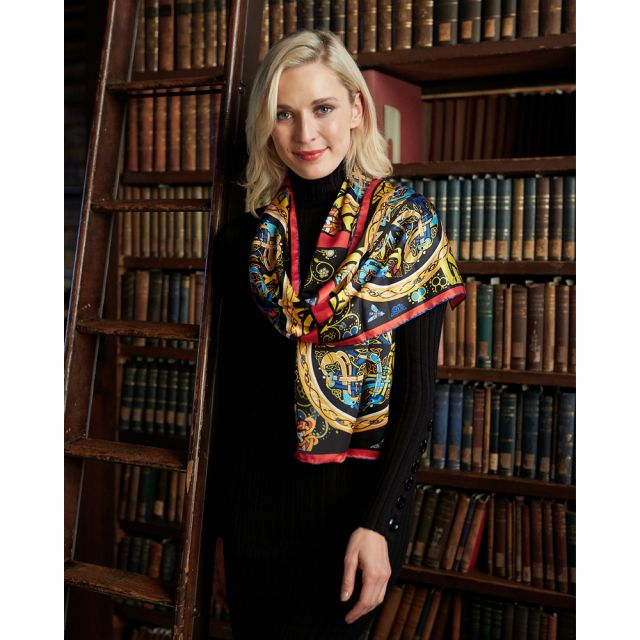 Book of Kells long Silk Scarf Patrick Francis Collection.