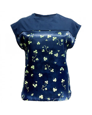 Ladies Satin LadiesT Shirt Shamrock Patrick Francis Design.