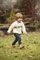 Aran Jumper Childs with Shamrock Design
