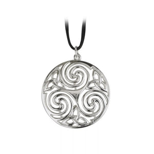 Celtic Spiral and Trinity Knot Pendant