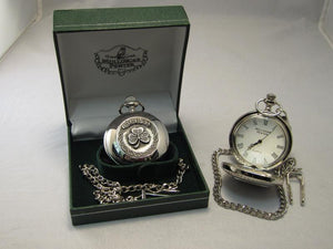 Mullingar Pewter Shamrock Pocket Watch.