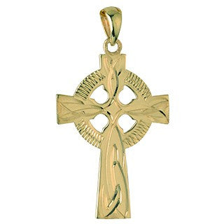 Celtic Cross Pendant 9ct Yellow Gold S4547