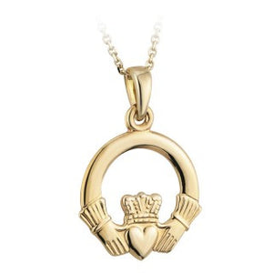 Claddagh Pendant 18ct Gold Plated.