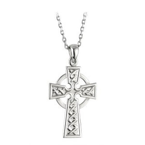 Celtic Cross Sterling Silver Small Pendant
