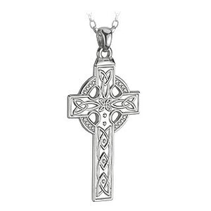 Celtic Cross Pendant large Sterling Silver  38mm.