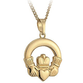 Claddagh Pendant 18ct Gold Plated S4483