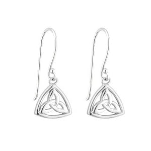 Acara Sterling Silver Trinity Knot Triangle Drop Earring