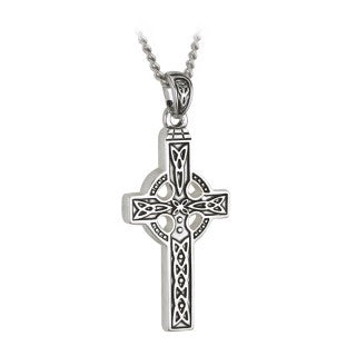 Celtic Cross Pendant Pewter Finish with Chain S44117