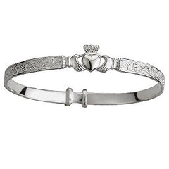 Claddagh Bangle Baby Sterling Silver S5268