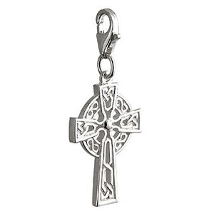 Celtic Cross Clip-On Charm Sterling Silver