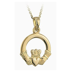 Claddagh Pendant 10ct Yellow Gold S4277