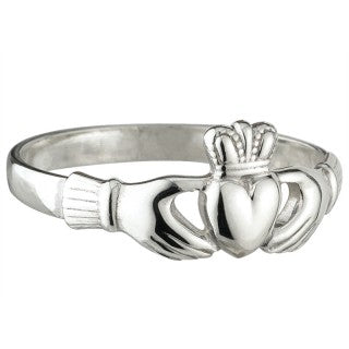 Claddagh Ring Sterling Silver Puffed Heart Fine Thickness S2543