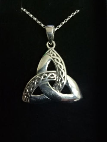 Trinity Knot Pendant Sterling silver large.