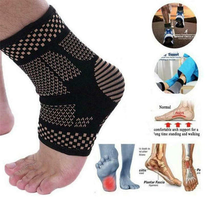 MAGFOOT™ COPPER INFUSED MAGNETIC FOOT SUPPORT COMPRESSION