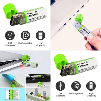 EASYPOWER Usb Rechargeable AA Batteries