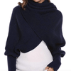 HOLIDAY SAVINGS PROMO! 50% OFF! 2019 CROCHET SWEATER-SCARF WITH SLEEVES
