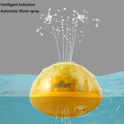 The Sprinkler Buddy Infant Bath Toy.  Electric Induction Sprinkler Ball with Light Music Children Water Play Ball Bathing Toys Kids Gifts