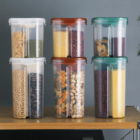 Rotating Food Storage Containers