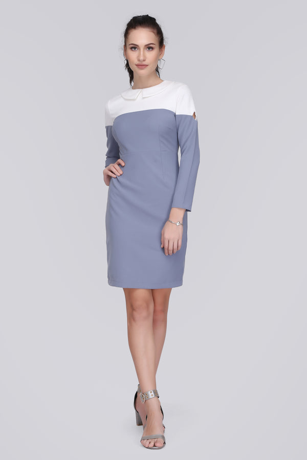 Wide Collar Dress