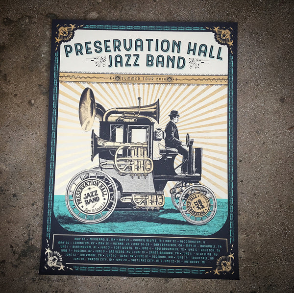 Preservation Hall Jazz Band - Tour poster