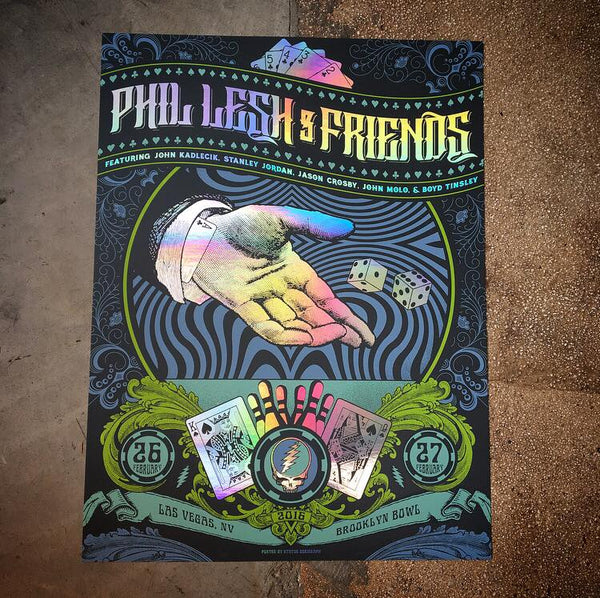 Phil Lesh and Friends - Brooklyn Bowl Rainbow foil