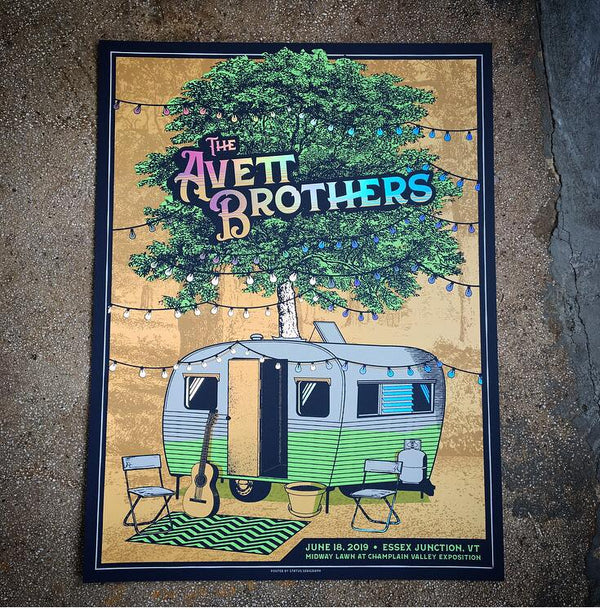Avett Brothers- Essex Junction, VT (Rainbow Foil)
