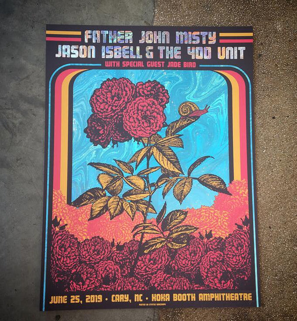 Jason Isbell & Father John Misty - Cary, NC (Swirl Foil)